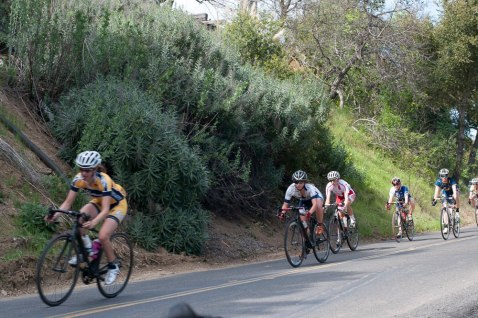 Erica Greif from UNR on the Road Race descent (on her way to a 3rd place finish)