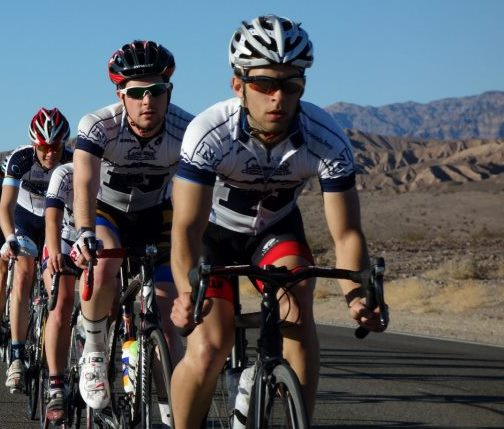 Team Time Trial practice in Death Valley