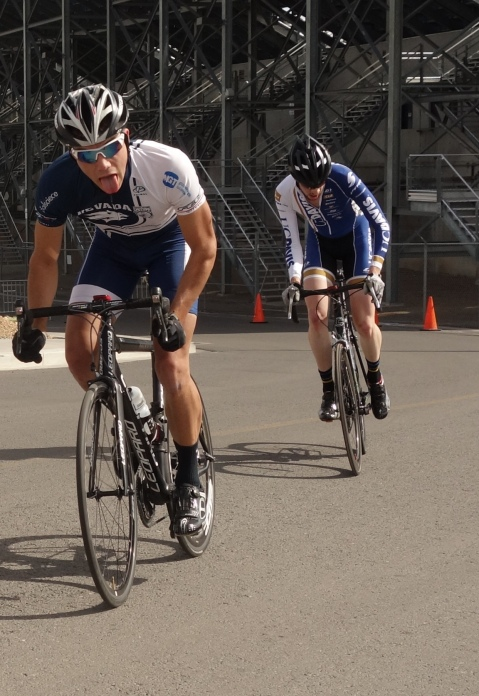 Matt Fanfelle rocking it in the Men's B Criterium
