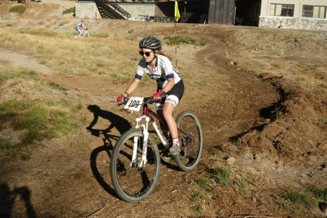 Erica on a mountain bike?!?