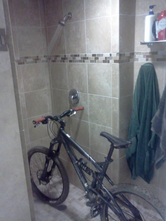Prioritys.  I like where they're at. Dorm showers...Bike.  Bike...Dorm showers.   Get comfy