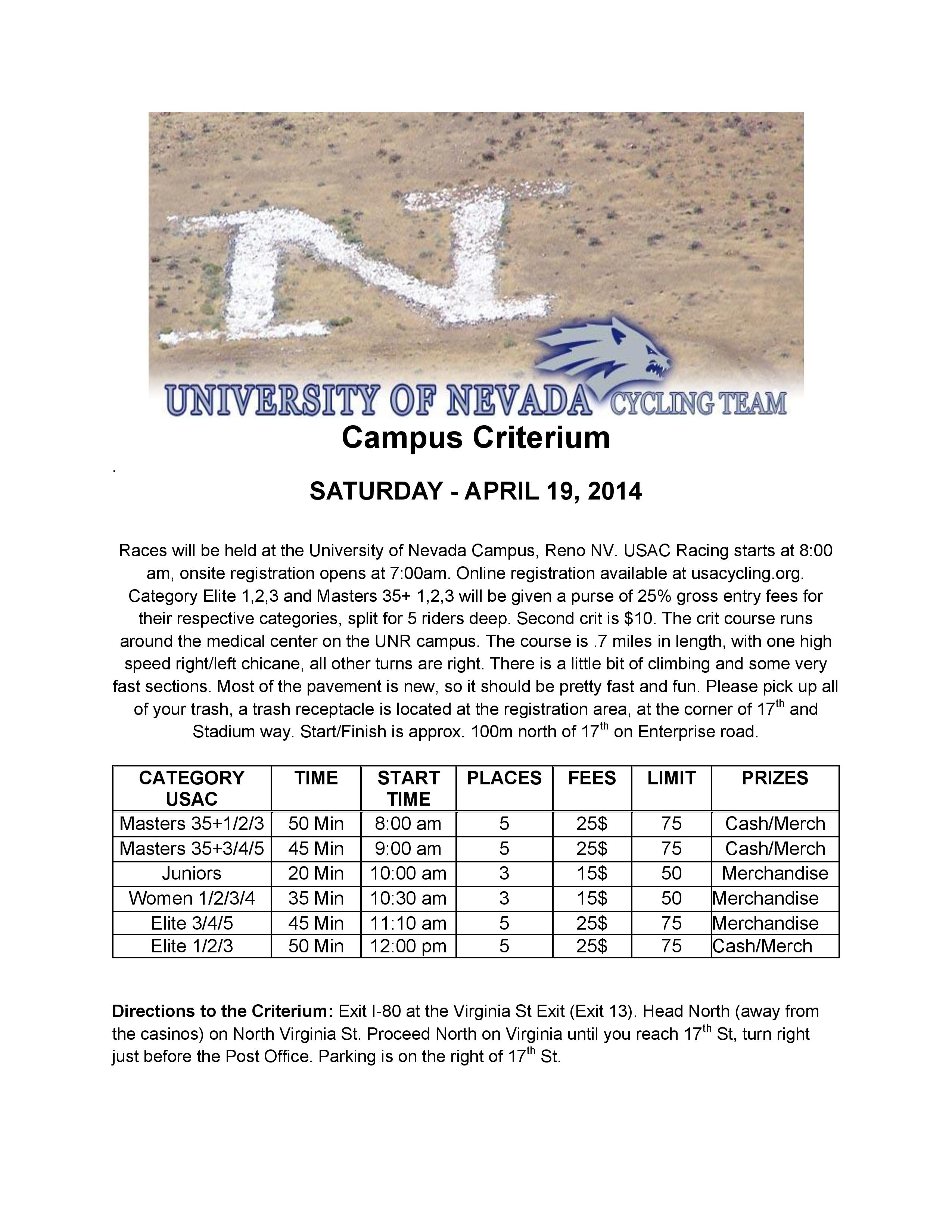 Unr Campus Map Pdf.Nevada Cycling The Cycling Team Of The University Of Nevada Reno
