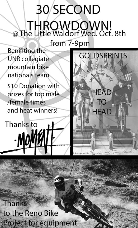 Goldsprints flyer bw